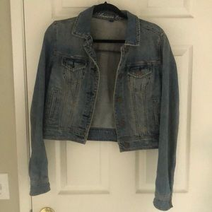 American Eagle crop jean jacket